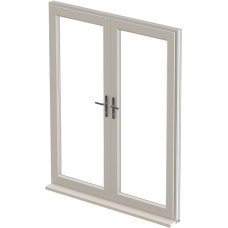 uPVC French Door - Cream