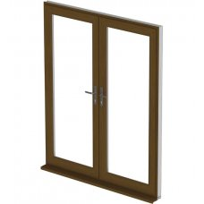 uPVC French Door - Golden Oak