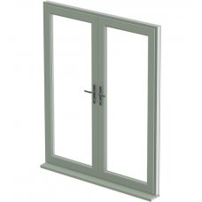 uPVC French Door - Green