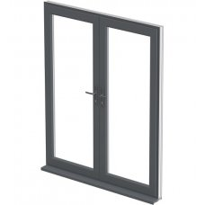 uPVC French Door - Grey