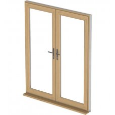 uPVC French Door - Irish Oak