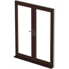 uPVC French Door - Mahogany
