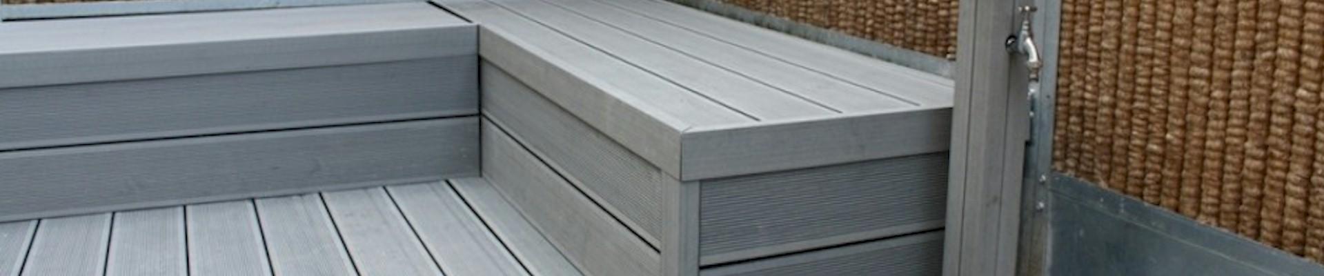 Suppliers of garden plastic decking order online at for Plastic garden decking